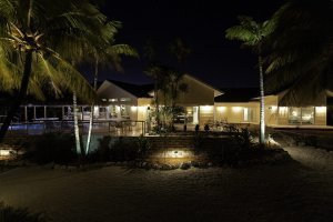 Bluefin Bay - Front Exterior, Night