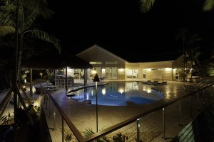 Bluefin Bay - Pool, Night