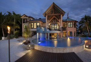 Lands End - Exterior, Night, Outdoor Living, Pool
