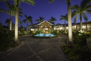 Tarpon Ranch - Porte Cochere, Exterior, Night, Driveway