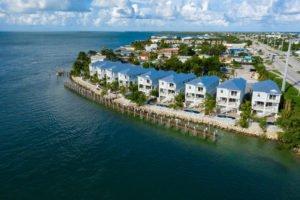 Aerial of the Tides at Vaca Cut Vacation Rentals in the Florida Keys